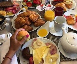food, juice, and breakfast image
