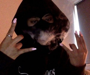smoke, nails, and black image