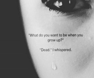dead, depressed, and depression image