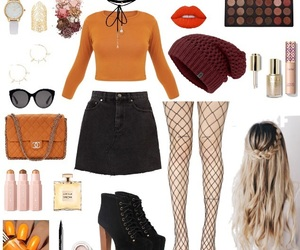 blond, clothes, and fall image