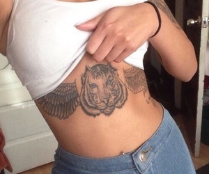 tattoo, body, and tiger image