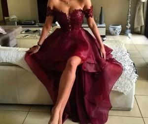 red dress, dress, and fashion image