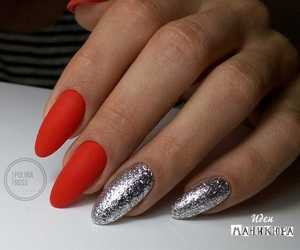 nails, red, and shine image