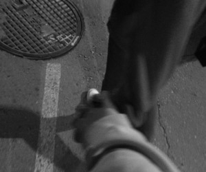 black and white, holding hands, and boy image
