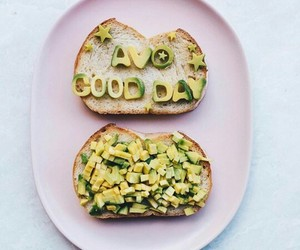 avocado, food, and pretty image