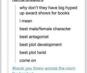 book, awards, and funny image