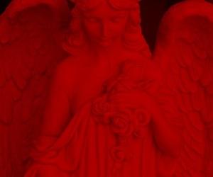 angel, love, and black image