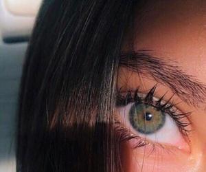 eyes, green, and hair image