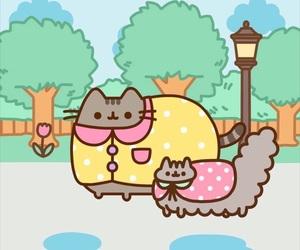 adorable, gato pusheen, and felino image