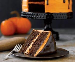 cake, Halloween, and chocolate image