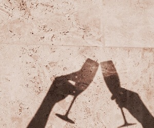 drink, champagne, and cheers image