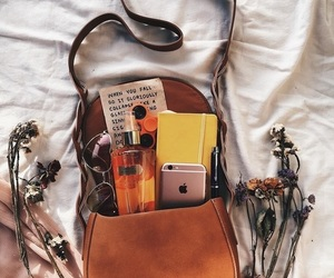 bag, flowers, and autumn image