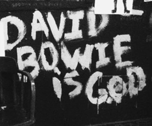 david bowie, god, and music image