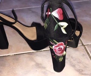 beautiful, floral heels, and floral image