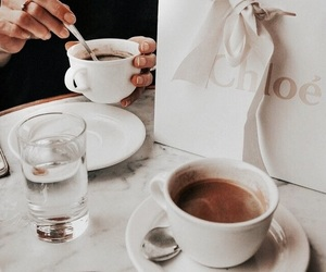 coffee, chloe, and drink image