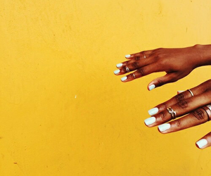 yellow, aesthetic, and nails image