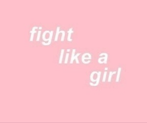 girl, pink, and fight image