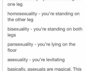 ace, asexual, and bisexual image