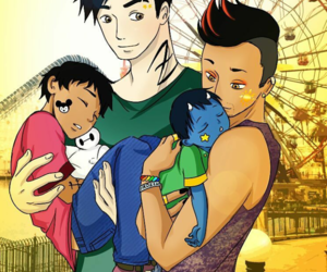 maleç, alec lightwood, and magnus bane image