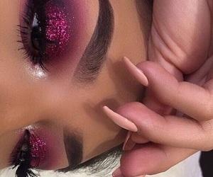 eye makeup, makeup, and sparkles image
