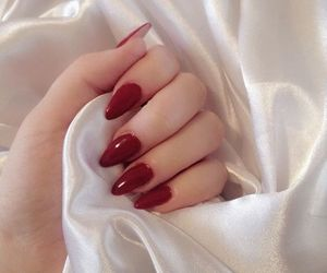nails, red, and tumblr image