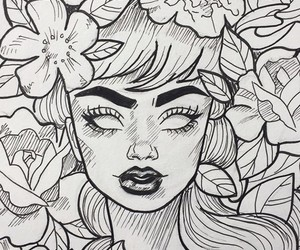 art, drawing, and eyebrows image