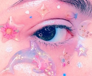 aesthetic, eye, and pastel image
