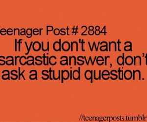 teenager post, stupid, and sarcastic image