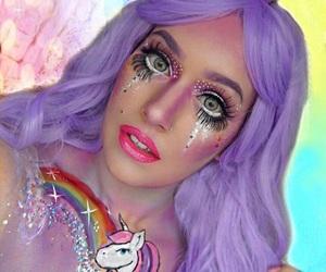 Halloween, makeup, and unicorn image