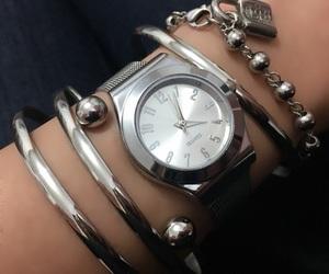 reloj, steel, and plata image