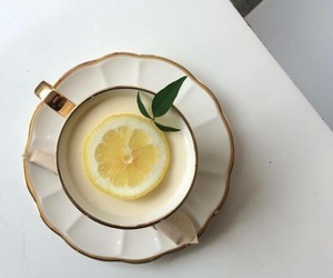 lemon, tea, and aesthetic image