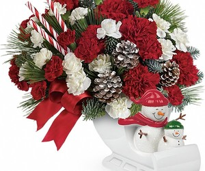 christmas flowers, christmas wreaths, and christmas centerpieces image