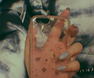 aesthetic, nails, and phone case image