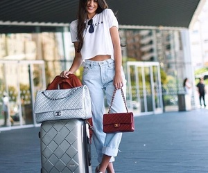 suitcase, travel, and traveloutfit image
