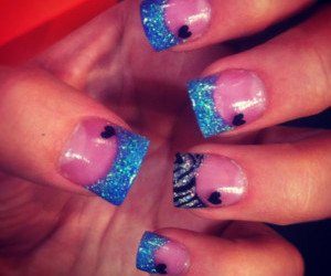 blue, designs, and nails image