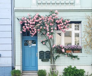beautiful, door, and blue image