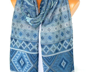 christmas, scarves, and etsy image