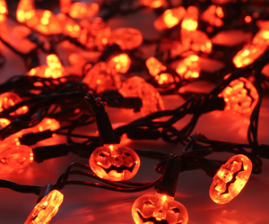 Halloween, lights, and orange image