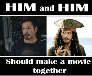 johnny depp, iron man, and movie image