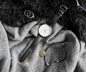 details, sweater, and watch image