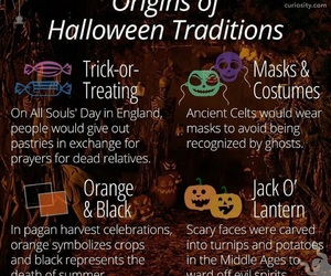 Halloween, traditions, and trick or treat image
