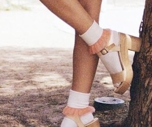 beige, fashion, and heels image