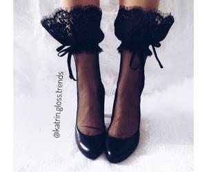 black shoes, elegant, and shoes image