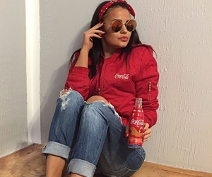 beauty, cocacola, and fashion image