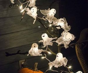 Halloween, ghost, and pumpkin image