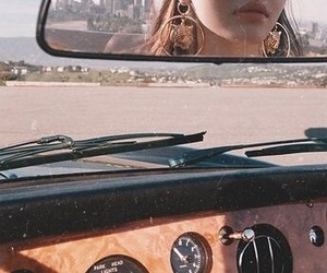 car, aesthetic, and mirror image