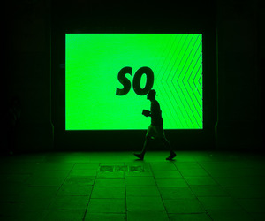 grunge, green, and neon image