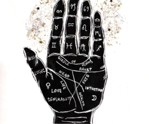 art, astrology, and glitter image