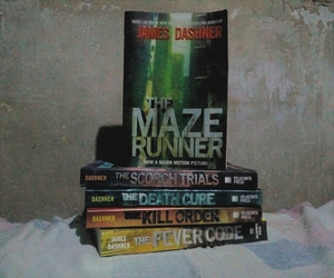 books, the death cure, and newt image