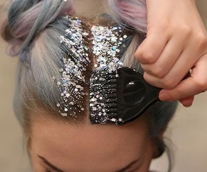 glitter, hair, and goals image